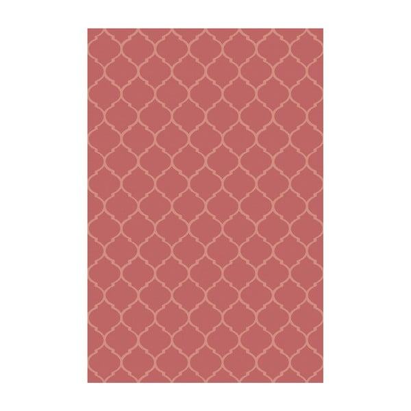 Vinylový koberec Reticular Rojo, 200x300 cm