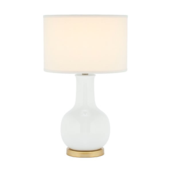 Stolová lampa s bielou základňou Safavieh Charlie