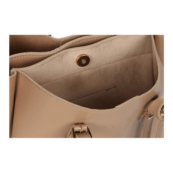 Béžová kabelka z eko kože Beverly Hills Polo Club Alicia