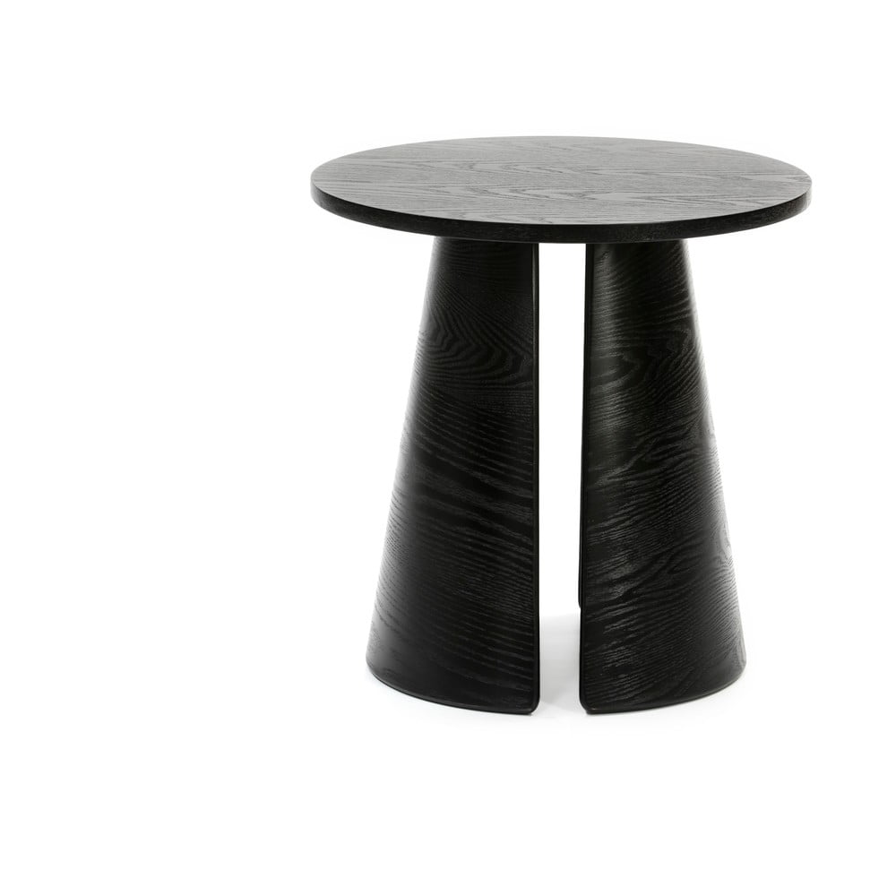 Čierny odkladací stolík Teulat Cep, ø 50 cm
