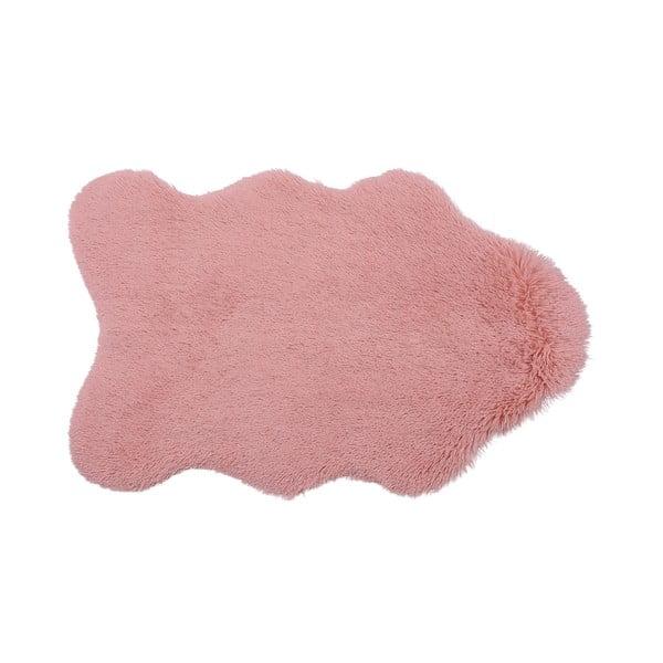 KožKožušinový ešinkový koberec Bear, ružový