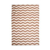 Bavlnený koberec Chevron Ivory/Beige, 160x230 cm
