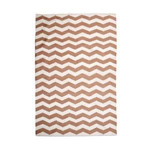 Bavlnený koberec Chevron Ivory/Beige, 120x180 cm