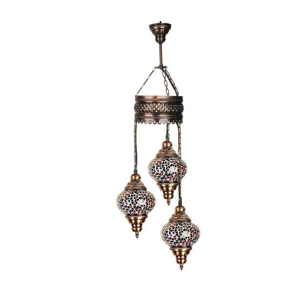 Sklenená závesná lampa Three XII, 13 cm