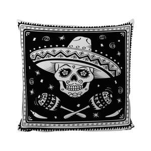 Vankúšik Black Shake Sugar Skull, 50x50 cm