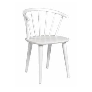 Biela dubová stolička Folke Iddun