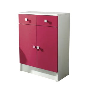 Ružová kúpeľňová skrinka 13Casa Click