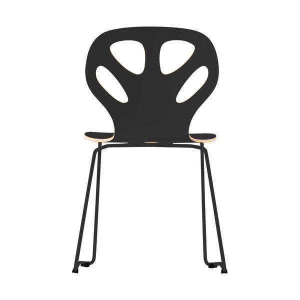 Stolička Maple, čierna