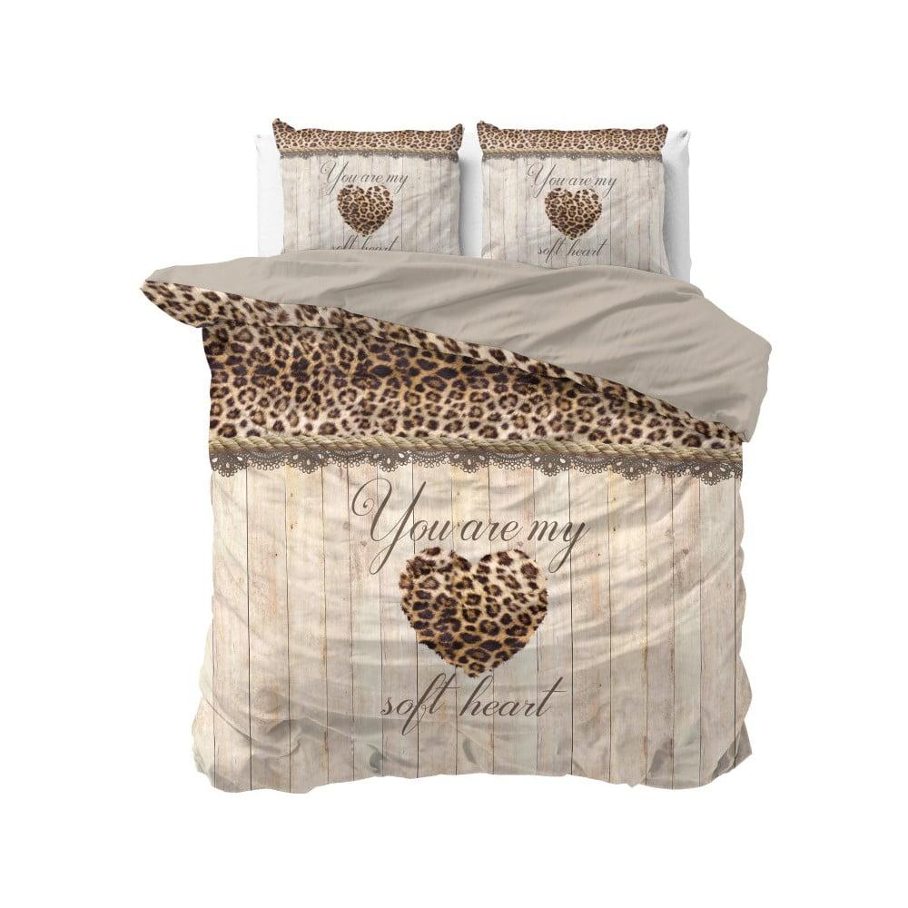 Bavlnené obliečky na dvojlôžko Sleeptime Home is Love, 200 × 220 cm
