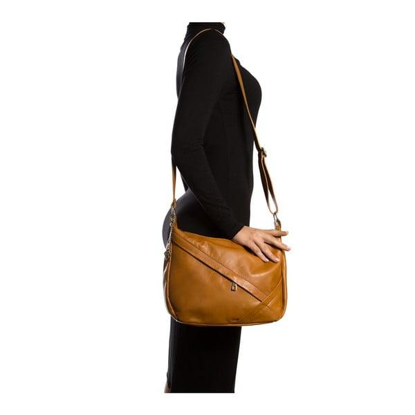 Kožená kabelka Elie 2133 Cognac