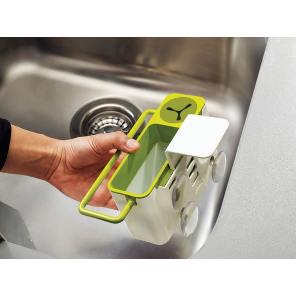Sivý stojan na umývacie prostriedky