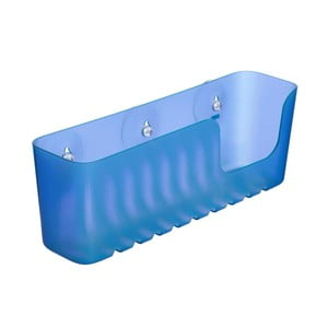 Modrý nástenný kúpeľňový kôšík bez nutnosti vŕtania Ta-Tay Large Storage Basket Standart
