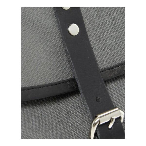 Sivý batoh s koženými detailmi Sandqvist Roald
