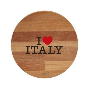 Doska na krájanie z bukového dreva Bisetti I Love Italy, 30 cm