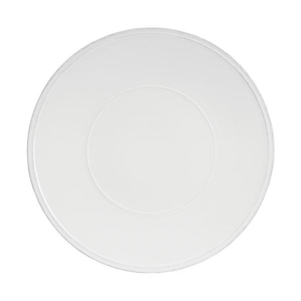 Biely kameninový tanier Costa Nova Friso, ⌀ 34 cm
