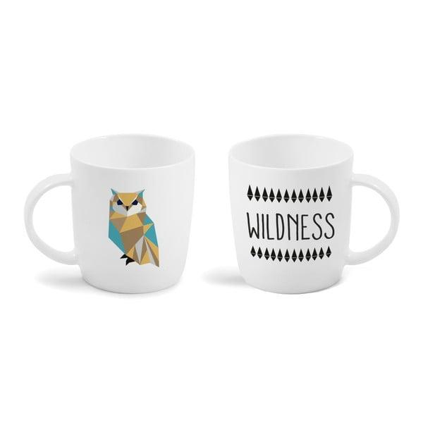 Porcelánový hrnček Vialli Design Wild Owl, 370 ml