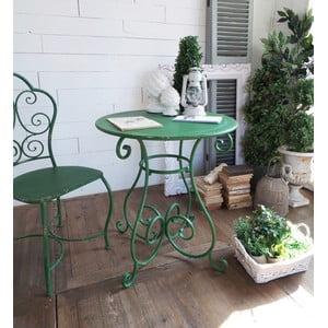 Kovový stolík Shabby Green