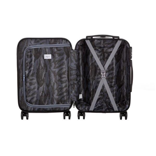 Čierny cestovný kufor so sadou nálepiek Berenice Stickers, 44 l