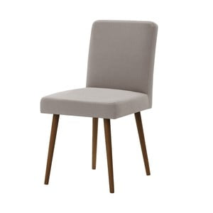 Sivo-hnedá stolička s tmavohnedými nohami Ted Lapidus Maison Fragrance