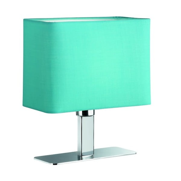 Stolová lampa Ming, tyrkysová