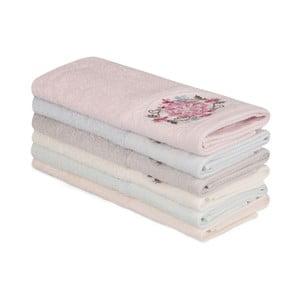 Sada 6 bavlnených uterákov Nakis Ghanno, 30×50 cm