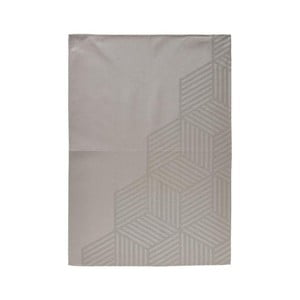 Sivohnedá kuchynská utierka zo 100% bavlny Zone Hexagon, 50×70 cm