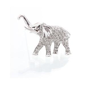 Brošňa so Swarovski Elements, slon