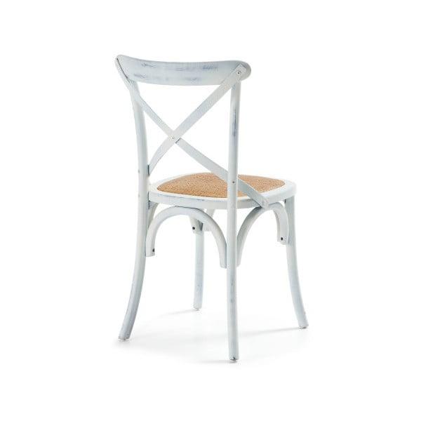 Stolička  Silea, biela/prírodná