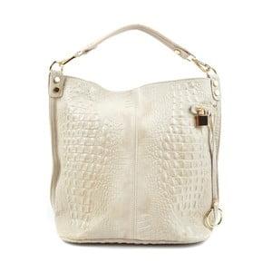 Béžová kožená kabelka Roberta M Russna