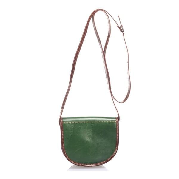 Zelená kožená kabelka Giorgio Costa Calista