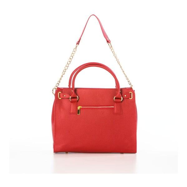 Kožená kabelka Dollaro Red