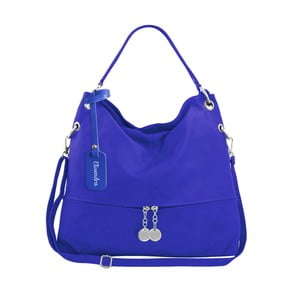 Modrá kožená kabelka Maison Bag Evelyne
