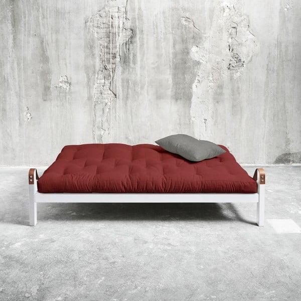 Rozkladacia pohovka Karup Poetry White/Passion Red/Granite Grey