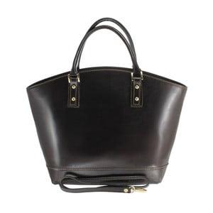 Čierna kožená kabelka Chicca Borse Amore