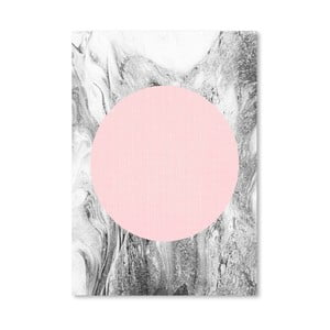 Plagát Geometric Pink Grey