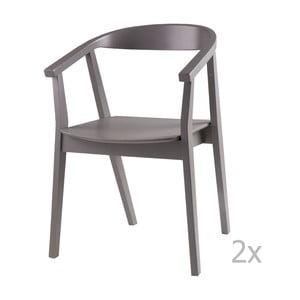 Sada 2 sivých jedálenských stoličiek sømcasa Donna