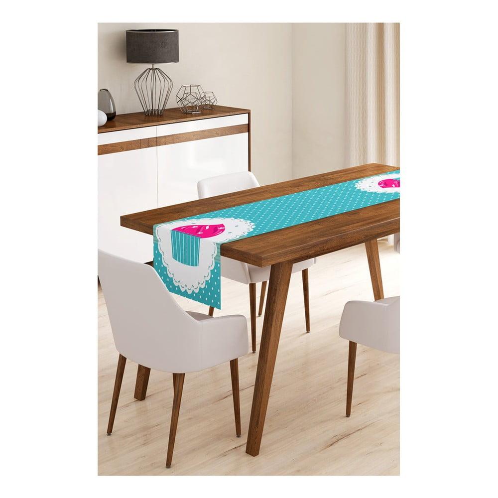 Behúň na stôl z mikrovlákna Minimalist Cushion Covers Blue Cupcake, 45 × 145 cm