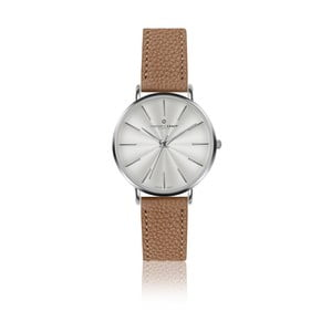 Dámske hodinky s koženým remienkom v koňakovohnedej farbe Frederic Graff Silver Monte Rosa Lychee Cognac