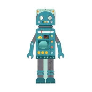 Detský nástenný meter Petit collage Blue Robot