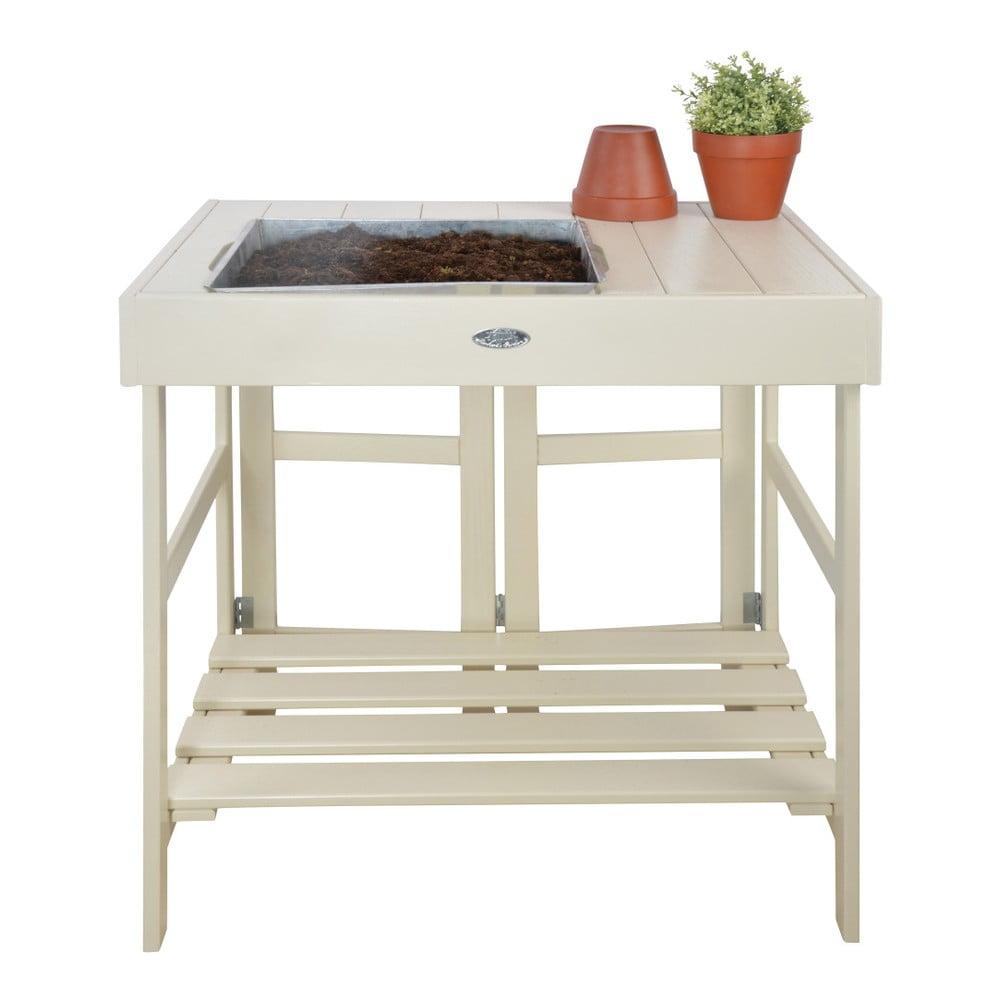 Skladací stolík z borovicového dreva na presádzanie kvetín Esschert Design Farma
