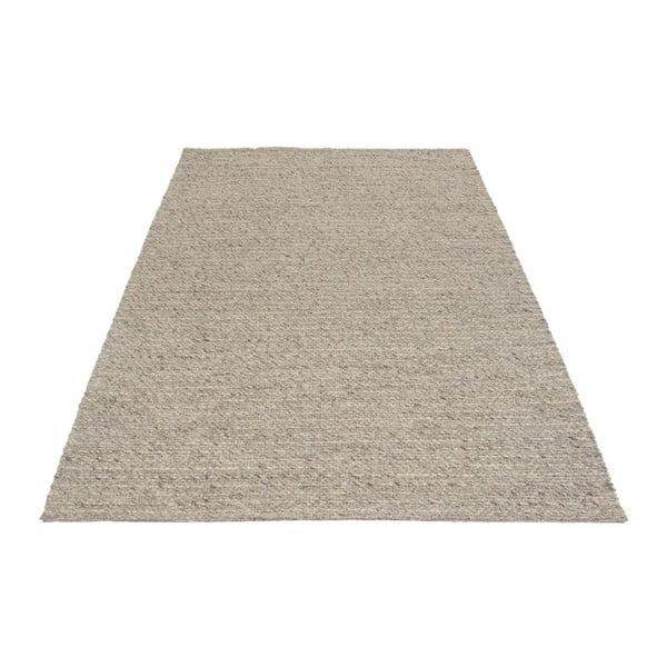Vlnený koberec Tikos White/Brown, 140x200 cm
