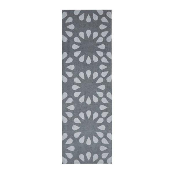 Sivý kuchynský behúň Zala Living Bloom, 50×150cm