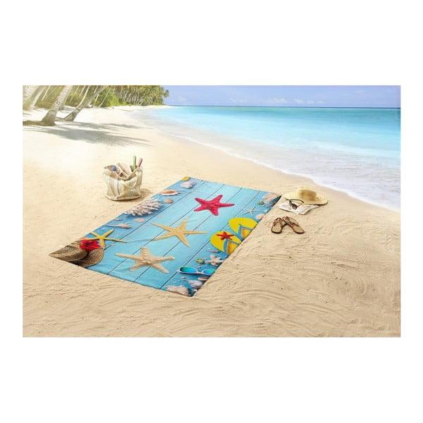 Plážová osuška s potlačou Good Morning Beachy, 100 x 180 cm