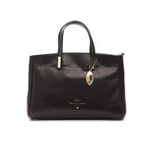 Čierna kožená kabelka f.e.v. by Francesca E. Versace Rastuna