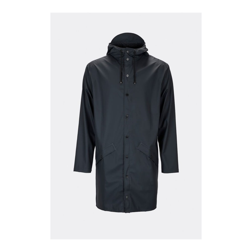 Tmavomodrá unisex bunda s vysokou vodoodolnosťou Rains Long Jacket, veľkosť XS/S