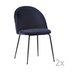 Sada 2 modrých jedálenských stoličiek House Nordic Geneve