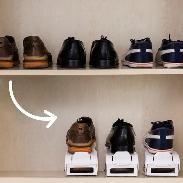 Sada 6 organizérov na topánky InnovaGoods Rack Adjustable Slots