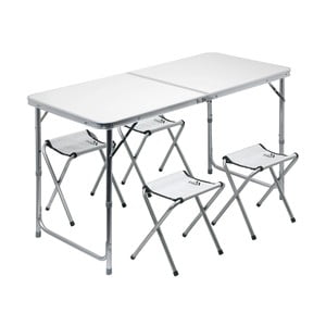 Set kempingového skladacieho stola a 4 stoličiek Cattara Double