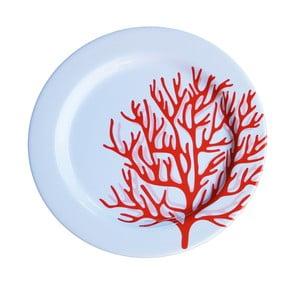 Sada 6 melamínových tanierov Sunvibes Caorail Rouge, ⌀ 25 cm