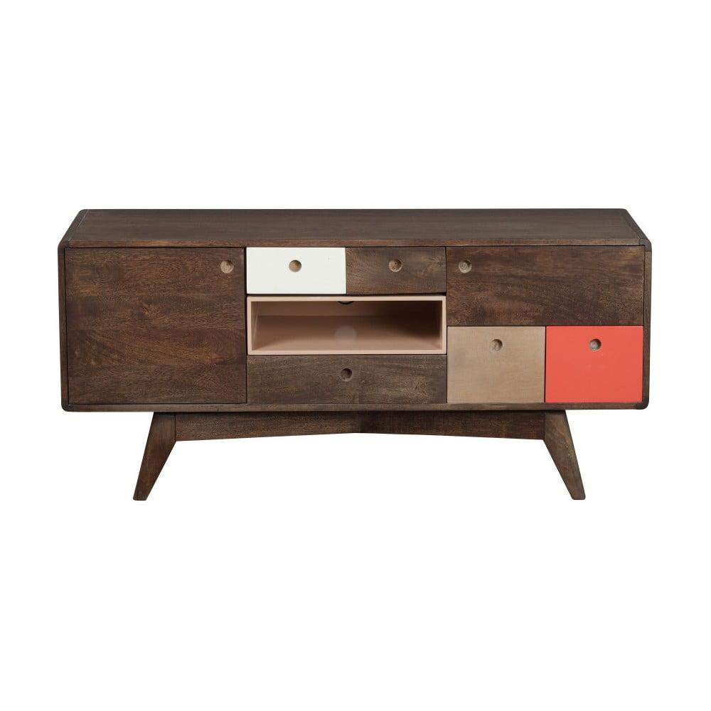 TV komoda z masívneho mangového dreva Woodjam Play Dark, 120 cm